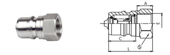 БРС ISO-B ниппель нержавеющая сталь