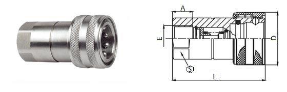 БРС ISO-B розетка нержавеющая сталь
