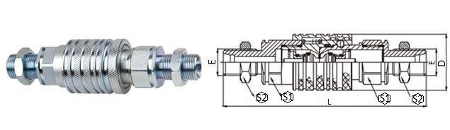 БРС ISO-M комплект с наружной резьбой и контргайкой