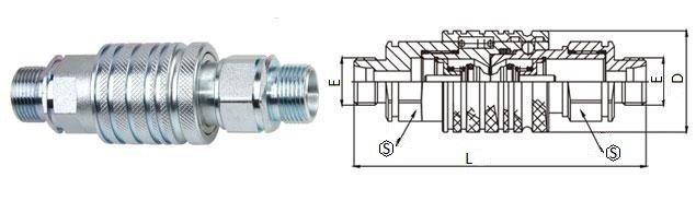БРС ISO-M комплект с наружной резьбой