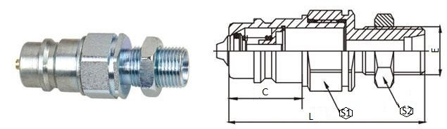 БРС ISO-M с ниппель с наружной резьбой и контргайкой