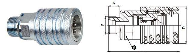 БРС ISO-M с розетка с наружной резьбой